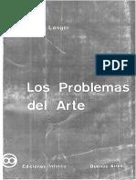 LANGER Los Problemas Del Arte