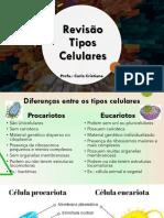Revisão Tipos Celulares - 3° Ciclo