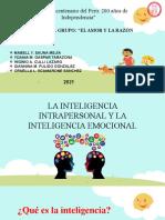 INTELIGENCIA PERSONAL - EMOCIONAL -DIAPOSITIVAS