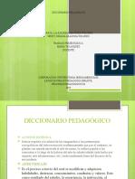 Diccionario Pedagógico