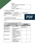 Administracion de las prestaciones FHT0908