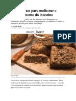 10 Alimentos Para Melhorar o Funcionamento Do Intestino
