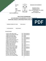 Rezultate Intermediare Licenţă Cu Frecvenţă Buget