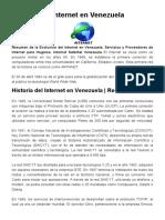 Historia del Internet en Venezuela