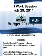 Plano ISD Budget Worksession 2011-2012