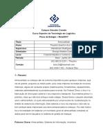 Relatorio de Estagio - Resumo e FOFA
