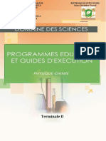 Programme Educatif - Terminale D