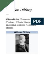 Wilhelm Dilthey — Wikipédia