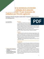 Evaluacion Ala Tensionde Juntas Soldadas en Aluminio