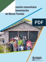 La participación comunitaria en la implementación de Muros Trombe