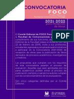 Convocatoria FOCO 2021-2022