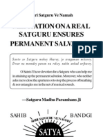 Meditation on a Real Satguru Ensures Permanent Salvation