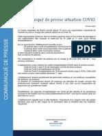 Communiqué de Presse Situation COVID - Centre Hospitalier de Bastia
