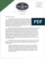 Doug Collins Letter to Rosen