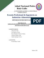 INFORME DE LABORATORIO - GRUPO 2 MÉTODOS INSTRUMENTALES