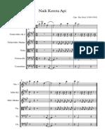 Naik Kereta Ap[ - Score and parts