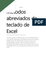 Métodos abreviados de teclado de Excel para MAC