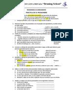 3. Práctica - El Pronombre