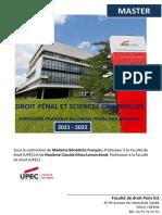 Brochure Droit Penal Et Sciences Criminelles 2021-2022 - Vf (3)