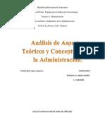 análisis de los aspectos teoricos y conceptuales de la administración