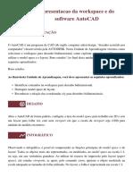 1.2 Apresentacao da workspace e do software AutoCAD