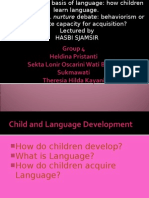 HASBI SJAMSIR, how children learn language.