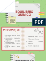EQUILIBRIO QUÍMICO - SEMANA 08 - PRIMERA PARTE