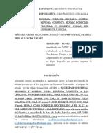 APERSONAMIENTO JUZGADO SEMINARIO RUBIO (ACCIÓN DE AMPARO)