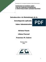 Fassio, Pascual y Suárez - Introducción a la metodología (selección de capítulo I)