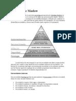 Pirámide de Maslow y personalidad