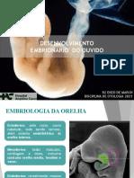 Embriologia Da Orelha - PC