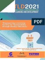 Programme Book Ictld2021 2 Ogos 2021 the Latest