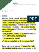 Romanos 16.20 - Paz