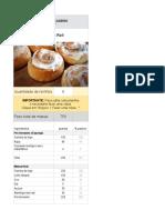 Cinnamon Roll | Lista de Ingredientes (Amo Pão Caseiro)