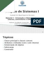 Material 4 - OO em Java - (PS I-2020)