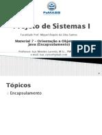 Material 7 - OO em Java - Encapsulamento (PS I-2020)