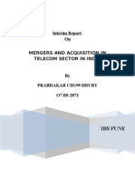 MERGERS AND ACQUISITION IN TELECOM SECTOR IN INDIA