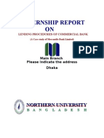 Report on Mercantile Bank Limited | Assignment on Bangladeshi commercial Bank