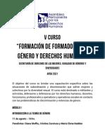 Programa Genero y Derechos Humanos APDH 2021