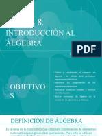 Clase 8 Introducción al Álgebra