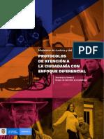 Cartilla Protocolos de Atencion a La Ciudadania Con Enfoque Diferencial