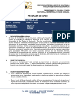 PROGRAMA DE CURSO CONTA II 2021