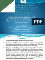Presentación de Hatem Kotrane en Congreso Internacional de Educación y Desarrollo