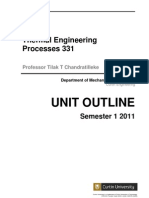 Unit Outline_Thermal Engineering Processes 331_2011