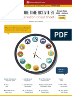 Leisure Time Activities