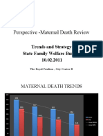 Maternal Death Review  WB Perspective 2011