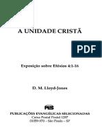 D. M. Lloyd-Jones - Efesios 04-01_A Unidade Cristã