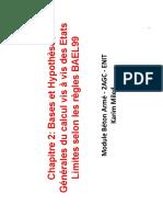 Chap2 Bases Et Hypothèses Générales Du Calcul Vis à Vis Des Etats Limites Selon Les Règles BAEL99