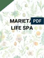 Menu Marieta Life Spa Pt