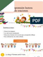 COMPRENSION LECTORA DE ORACIONES